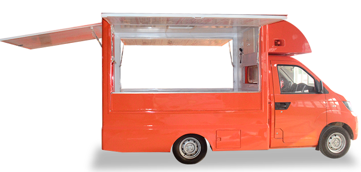 开瑞流动售货车,三厢展开侧视图